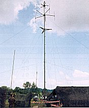 Stabilised, Field Mounted Clark Masts portable Mast in Military use